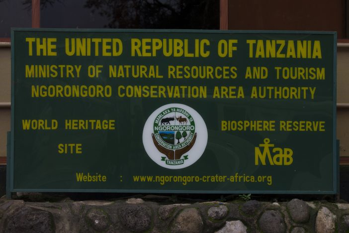 Ngorongoro Sign